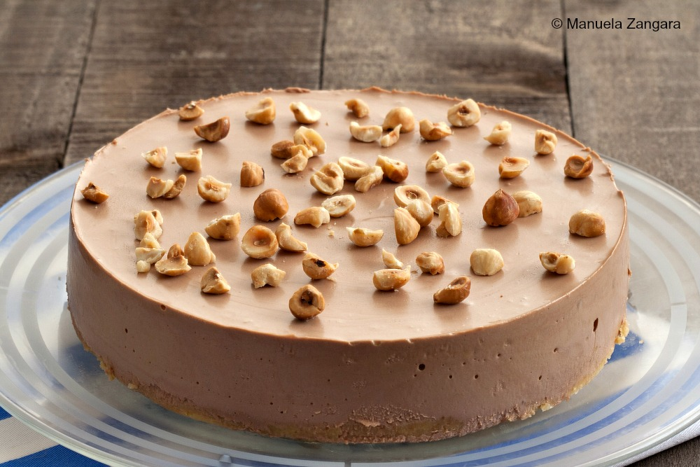 Nutella Cheesecake with Nutella Ganache