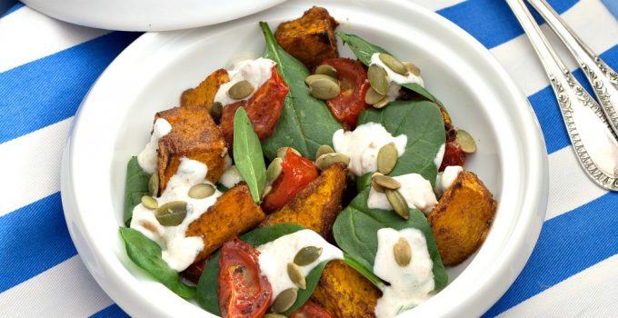 Middle-Eastern Chargrilled Pumpkin Salad