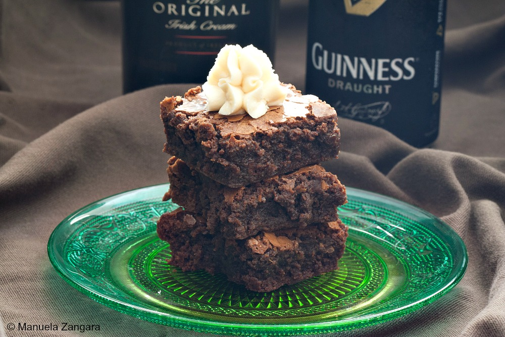Guinness Brownies with Baileys Frosting