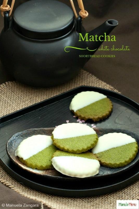 Matcha White Chocolate Shortbread