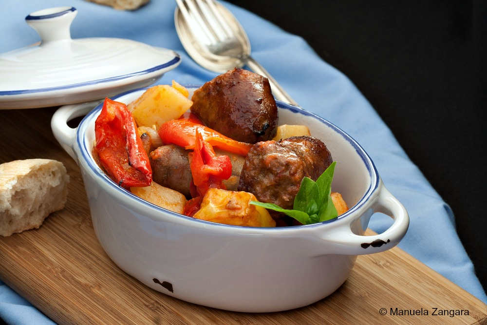 Italian Sausage with Bell Peppers and Potatoes