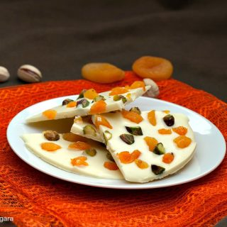 White Chocolate Apricot Pistachio Bark
