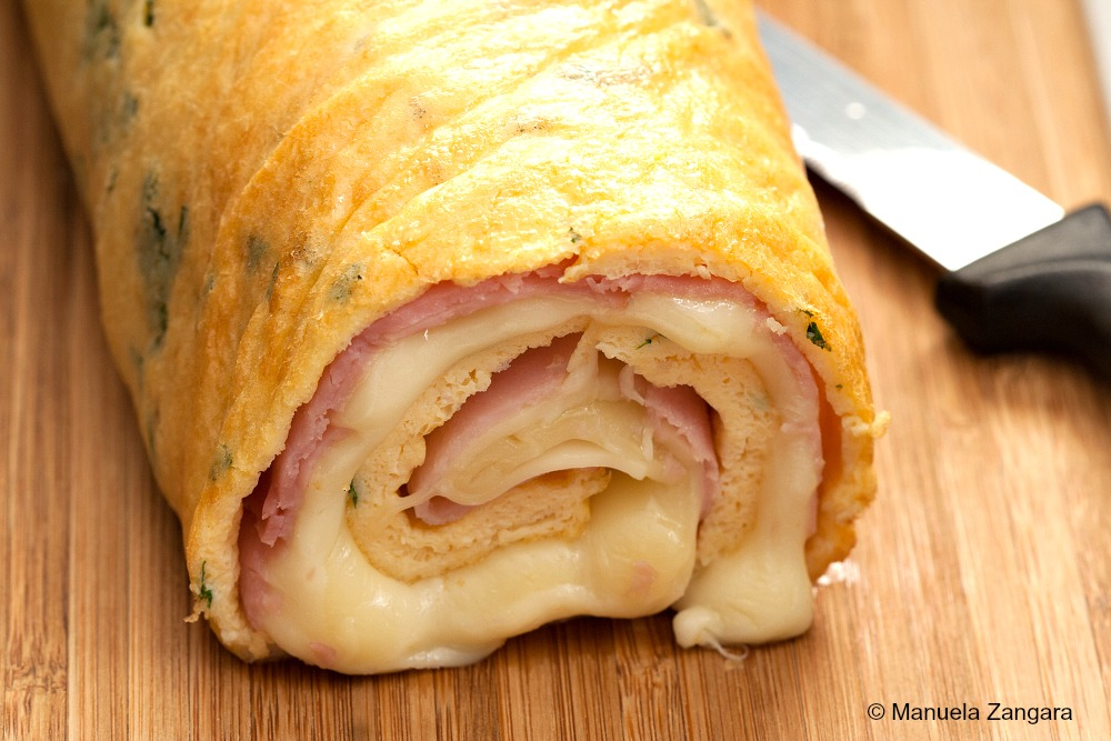 Ham and Cheese Frittata Roll
