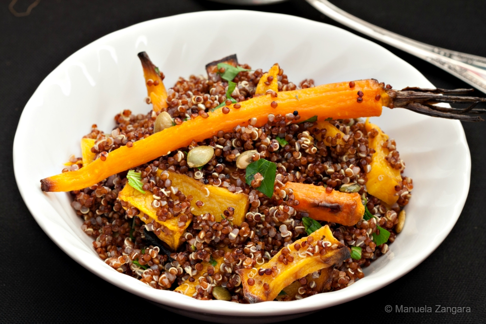 Roasted Pumpkin and Carrot Quinoa Salad