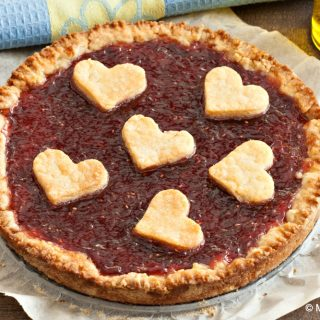 Dairy-free Raspberry Jam Crostata