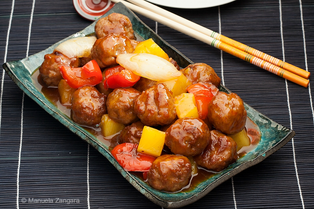 Chinese Sweet and Sour Pork Meatballs