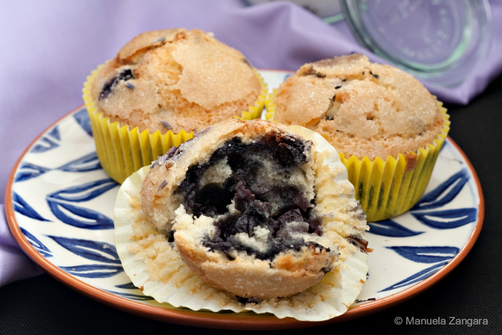 Dairy-free Blueberry Lavender Muffins