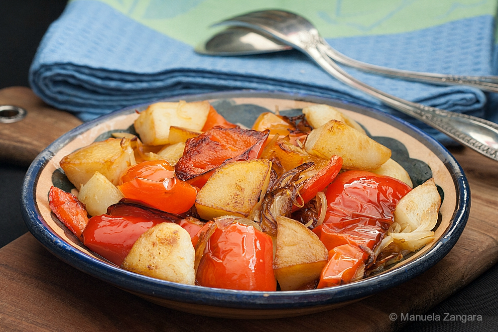 Fried Bell Peppers and Potatoes