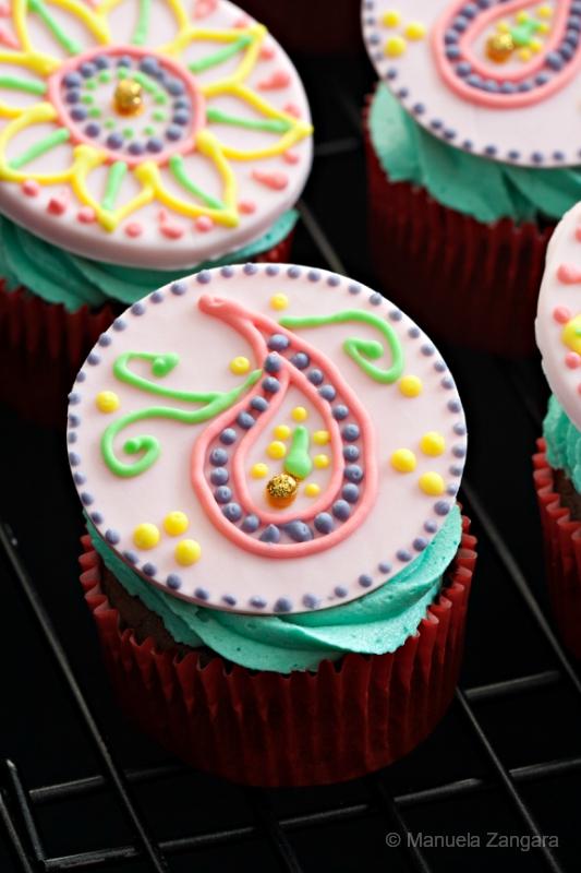 Mehndi Cupcakes