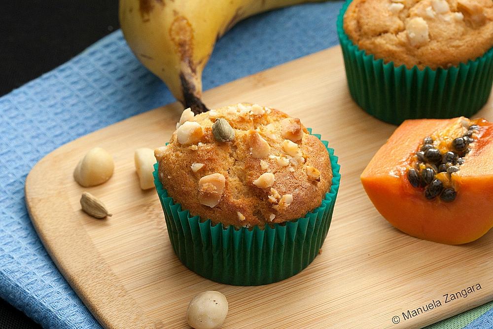 Papaya Banana Cardamom Muffins