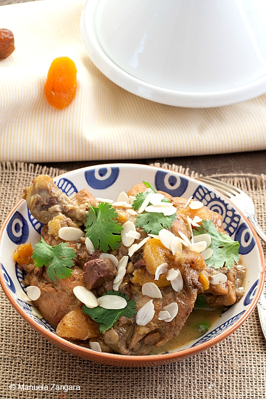 Chicken Tagine with Lemon, Dates, and Apricots