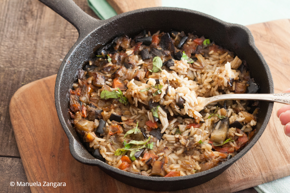 One-pot Mediterranean Eggplant Rice