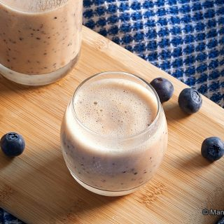 Orange, Blueberry, Passion Fruit Smoothie