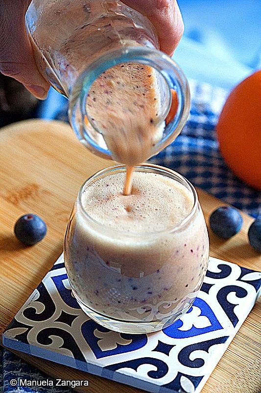 Orange, Blueberry, Passion Fruit Smoothie