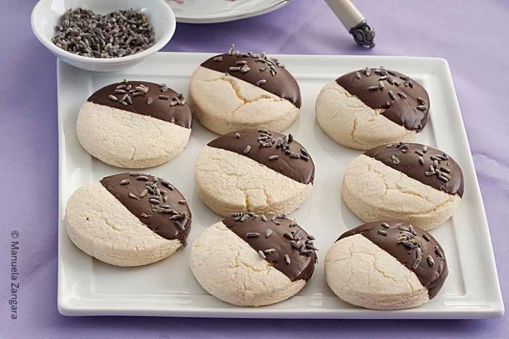 Gluten Free Chocolate Lavender Shortbread