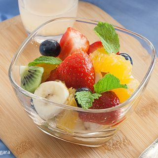 Low Fodmap Fruit Salad with Ginger Lime Syrup