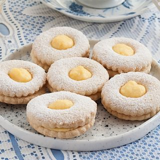 Low Fodmap Mandarin Curd Shortbread Cookies