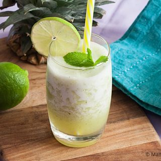 Low Fodmap Pineapple Mint Agua Fresca