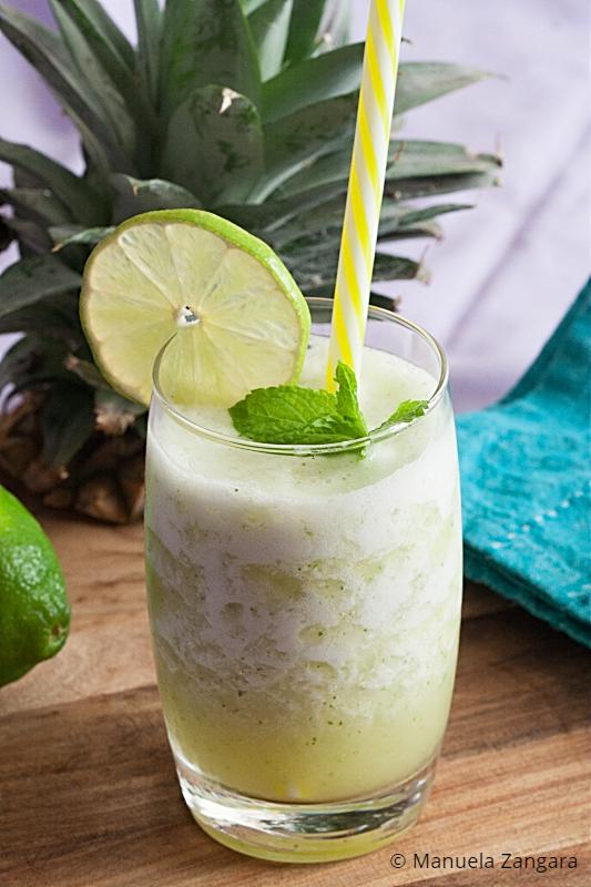 Low Fodmap Pineapple Mint Agua Fresca