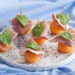 Prosciutto and Melon Bites