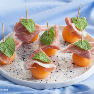 Prosciutto and Melon Bites