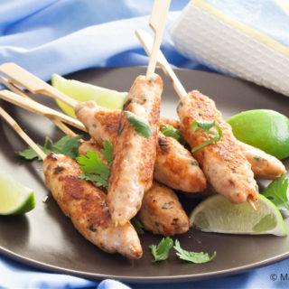 Lemongrass Salmon Skewers