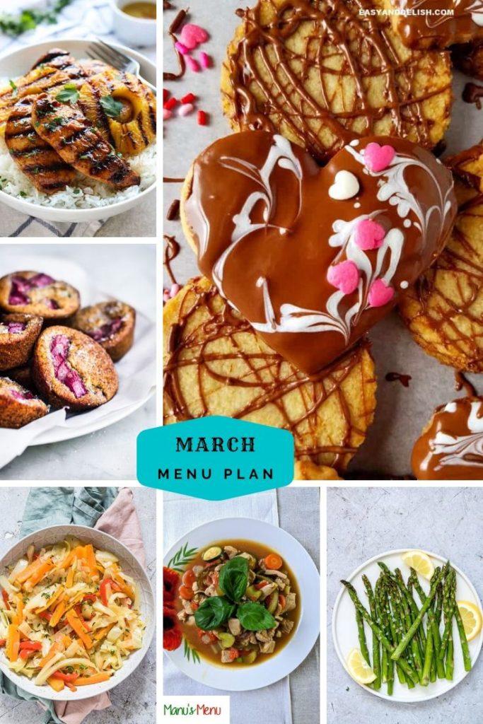 March Menu Plan