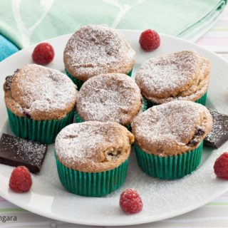 Low Fodmap Chocolate and Raspberry Muffins