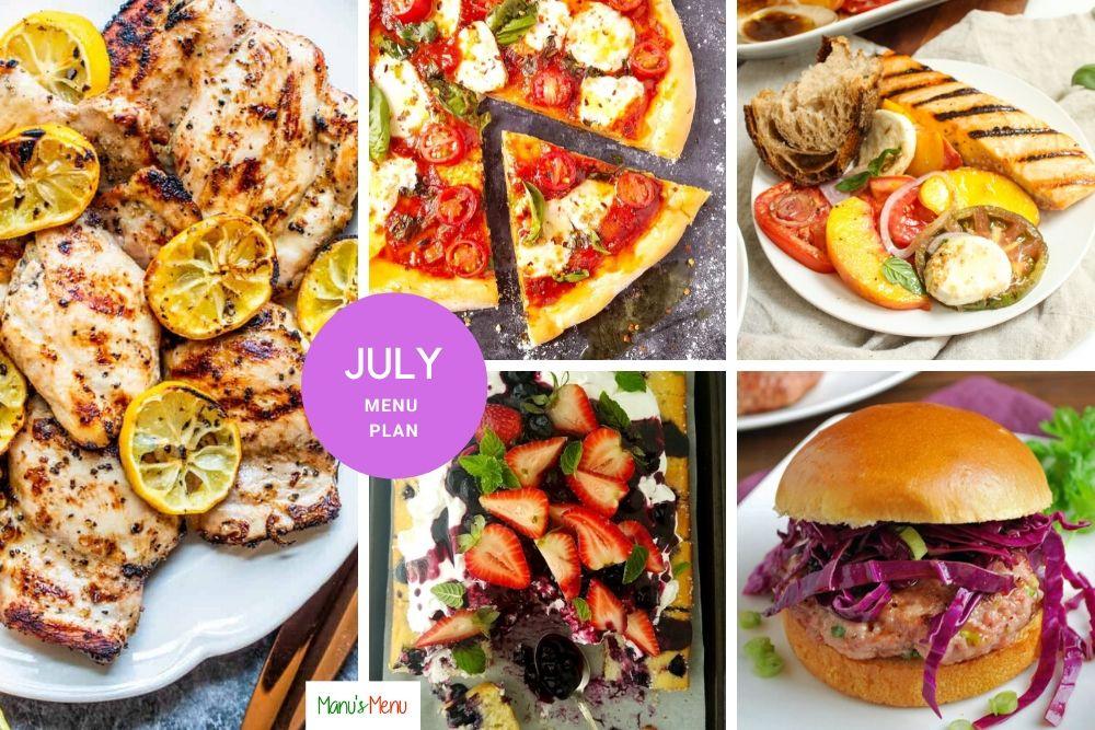 July Menu Plan
