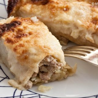 Sausage and Potato Sourdough Crespelle
