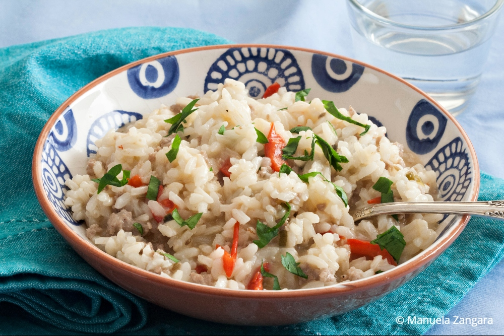 Low Fodmap Sausage and Capsicum Risotto