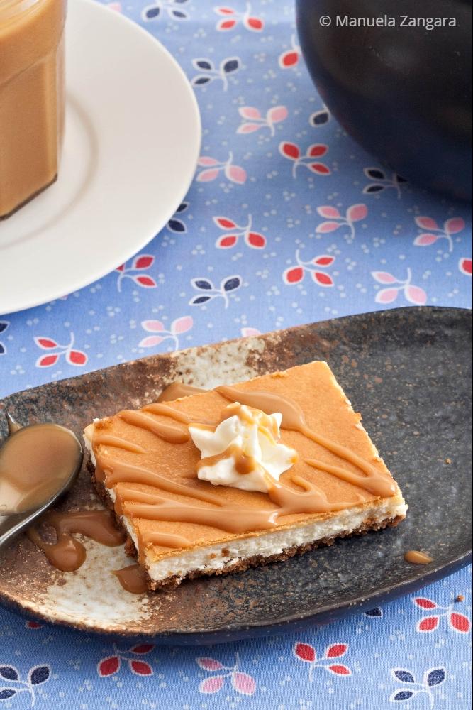Low Fodmap Vanilla and Miso Caramel Cheesecake