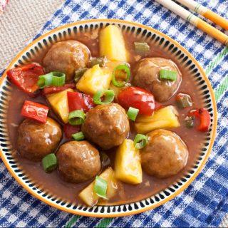 Low Fodmap Sweet and Sour Pork Meatballs