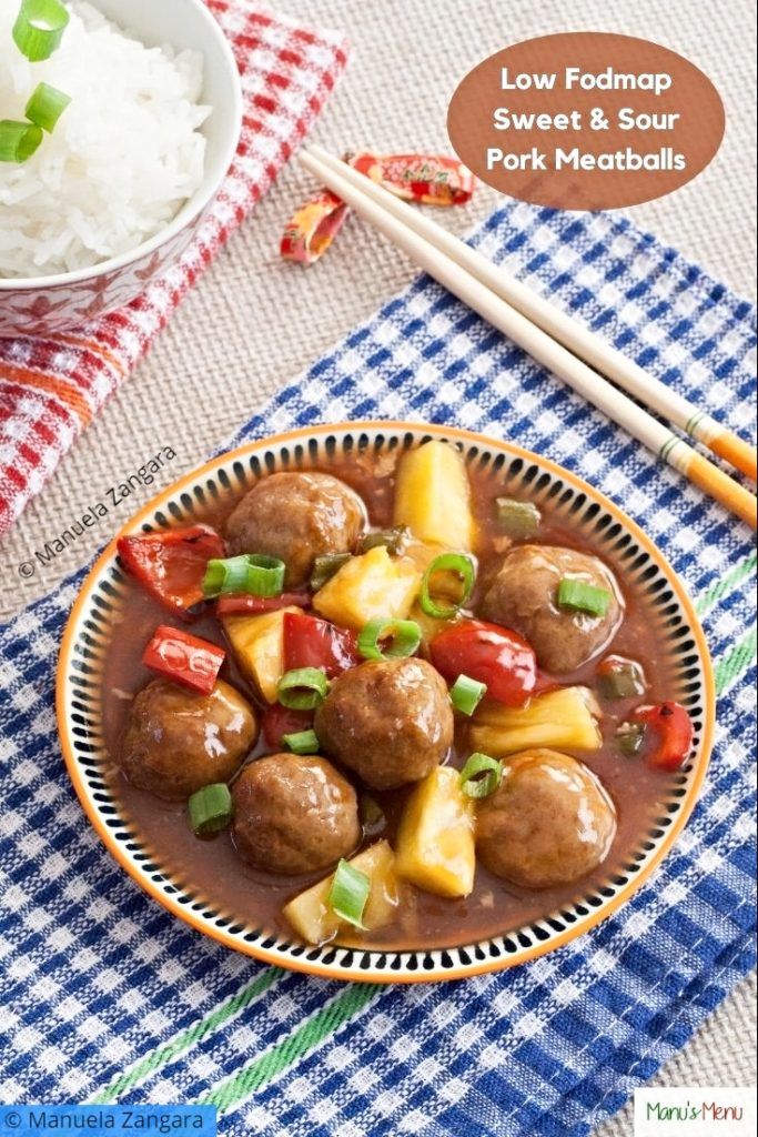 Low Fodmap Sweet and Sour Pork Meatballs